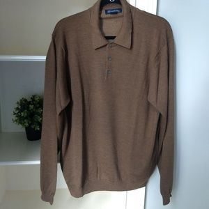 BROOKS BROTHERS Sweater XL Ex Fine Italian Merino